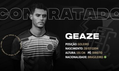 Cria da base do Santa Cruz, Geaze está de volta ao Tricolor